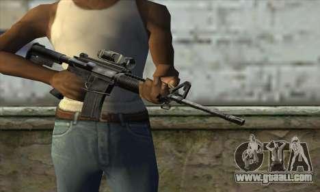 M4A1 Carbine Assault Rifle for GTA San Andreas third screenshot