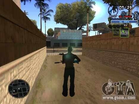 С-HUD Old Rifa for GTA San Andreas third screenshot