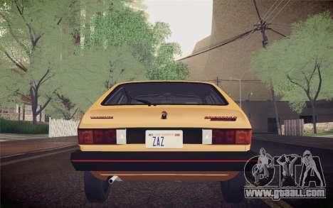 Volkswagen Scirocco S (Typ 53) 1981 IVF for GTA San Andreas interior