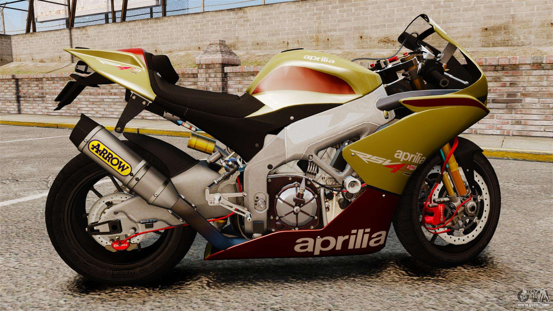 ... is the Aprilia RSV4 APRC and has been carbon fibred for.Carbon fiber  exhaust hanger to be used with Akrapovic slip on systems for RSV4 and Tuono  V4.