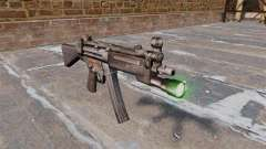 HK MP5 submachine gun with flashlight