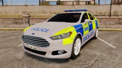Ford Mondeo 2014 Metropolitan Police [ELS] for GTA 4