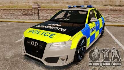 Audi S4 ANPR Interceptor [ELS] for GTA 4