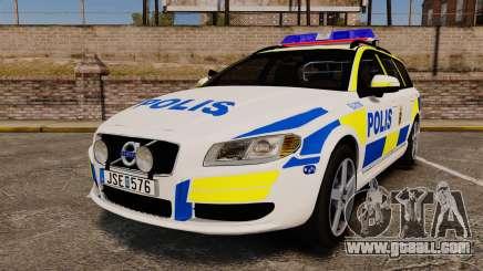 Volvo V70 II Swedish Police [ELS] for GTA 4