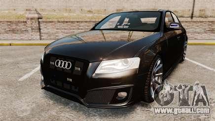 Audi S4 Unmarked Police [ELS] for GTA 4