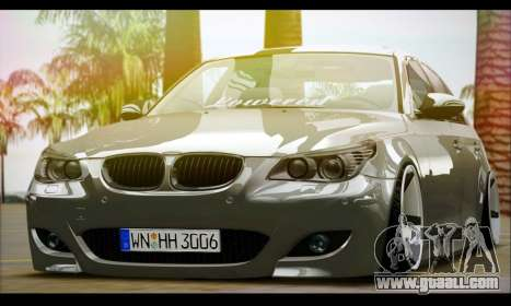 BMW M5 E60 Vossen for GTA San Andreas back left view