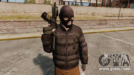 Automatic M4 carbine for GTA 4 fifth screenshot