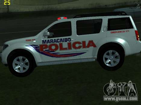 Nissan Pathfinder Polimaracaibo for GTA San Andreas back view