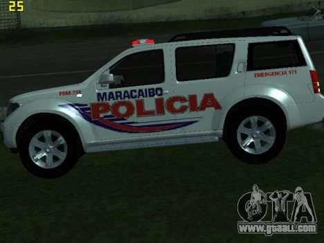 Nissan Pathfinder Polimaracaibo for GTA San Andreas back view