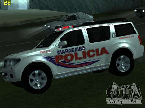 Nissan Pathfinder Polimaracaibo for GTA San Andreas right view