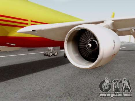 Airbus A340-600F DHL Buffalo for GTA San Andreas back left view