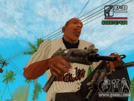 The submachine gun UZI for GTA San Andreas third screenshot