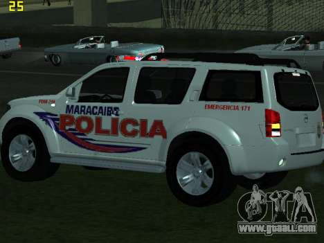 Nissan Pathfinder Polimaracaibo for GTA San Andreas inner view
