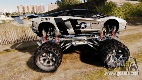 Lamborghini Aventador LP700-4 [Monster truck] for GTA 4 left view