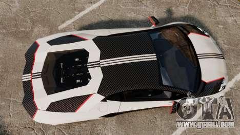 Lamborghini Aventador LP700-4 2012 Adidas Carbon for GTA 4 right view