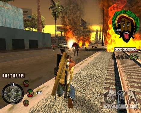 C-HUD Rastafari for GTA San Andreas third screenshot