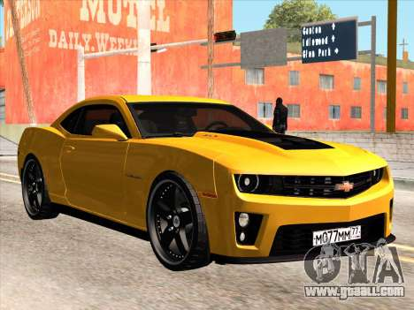 Chevrolet Camaro ZL1 2011 for GTA San Andreas back view