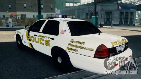 Ford Crown Victoria LCPD [ELS] for GTA 4 left view