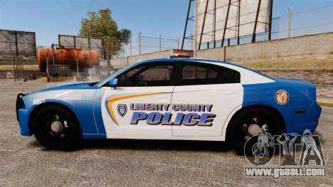 Dodge Charger 2013 Liberty County Police [ELS] for GTA 4 left view