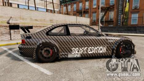 BMW M3 GTR 2012 Drift Edition for GTA 4 left view