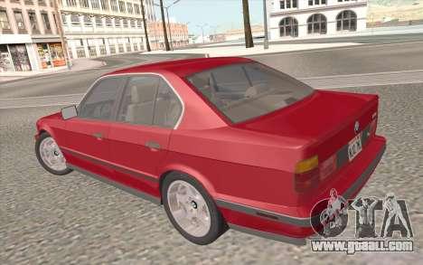 BMW M5 E34 1991 NA-spec for GTA San Andreas engine