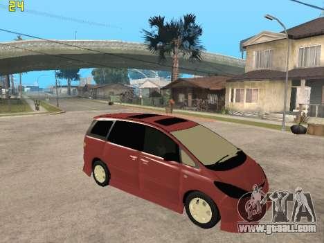 Toyota Estima Altemiss 2wd for GTA San Andreas right view