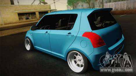 Suzuki Swift Hellaflush for GTA San Andreas back view