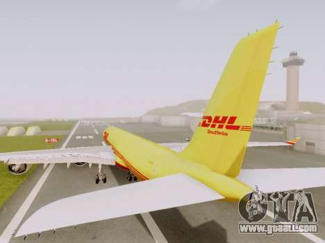 Airbus A340-600F DHL Buffalo for GTA San Andreas back view