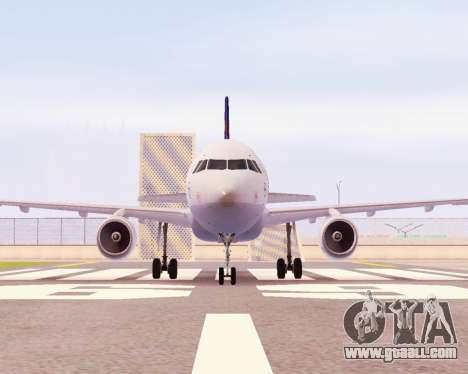Airbus A320-200 Lufthansa for GTA San Andreas left view