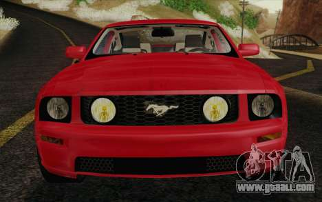 Ford Mustang GT 2005 for GTA San Andreas bottom view