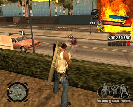 The new C-HUD for GTA San Andreas forth screenshot