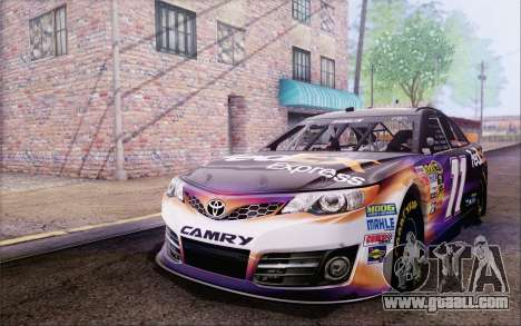 Toyota Camry NASCAR Sprint Cup 2013 for GTA San Andreas back view