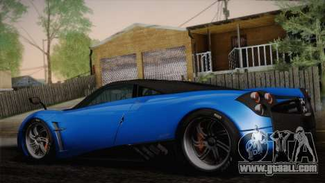 Pagani Huayra for GTA San Andreas left view