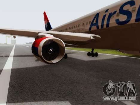 Boeing 767-300 for GTA San Andreas back left view