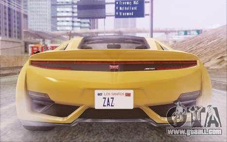 GTA V Dinka Jester IVF for GTA San Andreas side view
