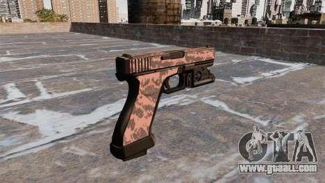 Pistol Glock 20 Red Tiger for GTA 4 second screenshot