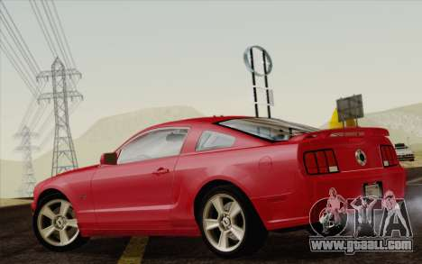 Ford Mustang GT 2005 for GTA San Andreas left view