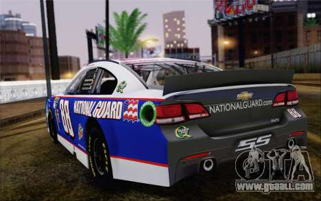 Chevrolet SS NASCAR Sprint Cup 2013 for GTA San Andreas left view