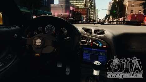 Mazda RX7 Veilside V8 for GTA 4 bottom view