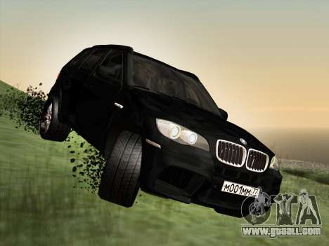 BMW X5M E70 2010 for GTA San Andreas side view
