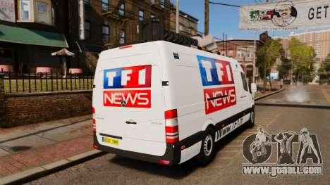Mercedes-Benz Sprinter TF1 News [ELS] for GTA 4 back left view