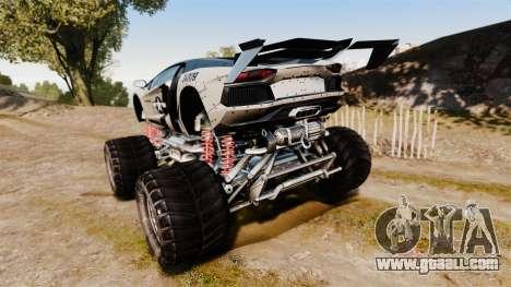 Lamborghini Aventador LP700-4 [Monster truck] for GTA 4 back left view