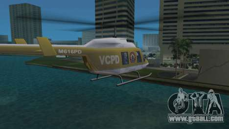 Police Helicopter from GTA VCS for GTA Vice City back left view