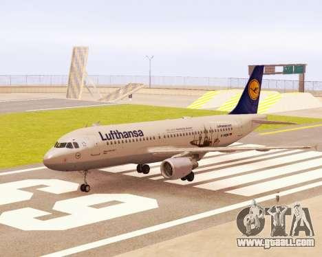 Airbus A320-200 Lufthansa for GTA San Andreas