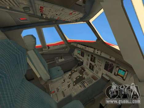 Airbus A320 Avianca Columbia for GTA San Andreas bottom view