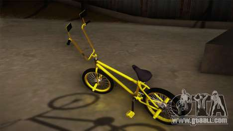 New BMX Yellow for GTA San Andreas left view