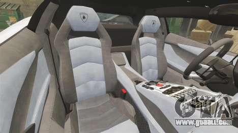 Lamborghini Aventador LP700-4 2012 Adidas Carbon for GTA 4 inner view