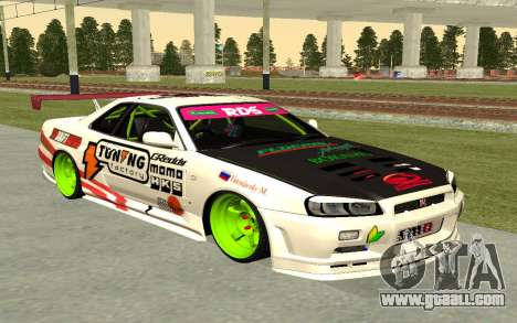 Nissan Skyline R-34 RDS for GTA San Andreas