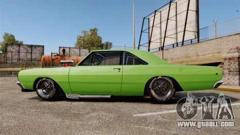 Dodge Dart 1968 for GTA 4 left view