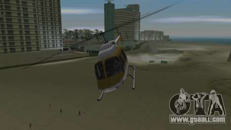 Police Helicopter from GTA VCS for GTA Vice City back view